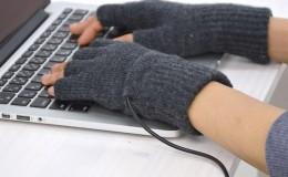 可加热的手套,Thanko产品USB发热半指手套