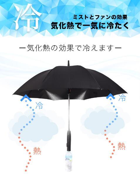 带风扇会喷雾的太阳伞